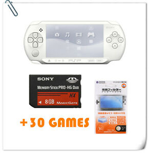 SONY-PSP-STREET-E100X-Screen-Guard-8GB-Memory-Stick-30-Games-bundle-offer