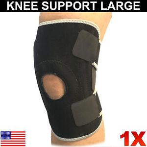 Knee-Brace-Support-Gym-Guard-Stabilizer-Adjustable-Straps-Open-Patella-Large-1X
