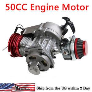 Details about 50cc Engine motor For Motorcycle DIRT Pocket PIT BIKE Honda  Quad 47cc 49cc Red