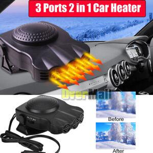 Upgrade-3Port-2in1-12V-Portable-Car-Heater-Cooling-Fan-Heater-Defroster-Demister