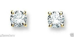 18CT-HALLMARKED-YELLOW-GOLD-0-25CTS-G-H-SI1-DIAMOND-SOLITAIRE-STUD-EARRINGS