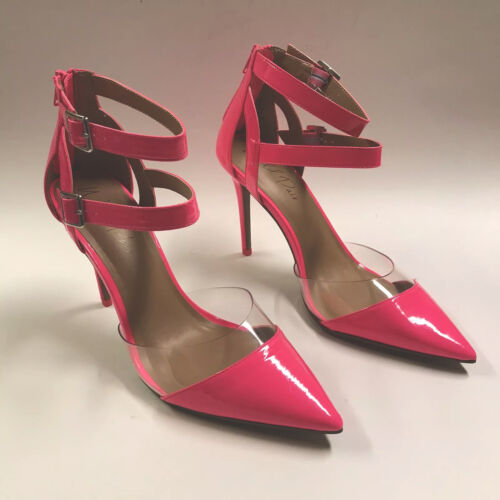 Wild Pair Size 9.5 Neon Shiny Hot Pink Pointed Toe