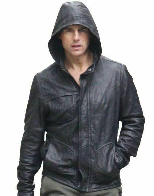 Mens Jacket Mission Impossible Black Men's Hooded Movie