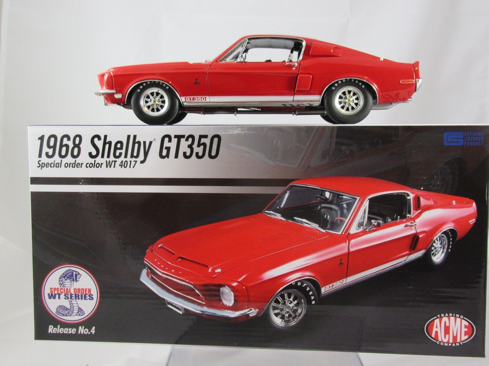 Acme 1968 Shelby GT350 - WT color Code 4017 - WT A1801808