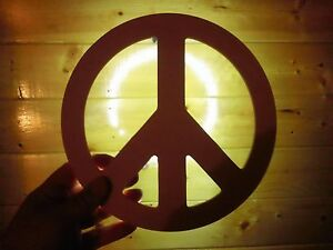 Details about LOVE and PEACE - backlit sign picture wall art decor  decoration night light NEW