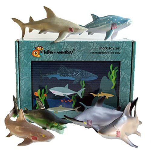 Requin mer créature Toy Figures Animales Boxed Set Of 6