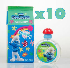 Job Lot 10 x SMURFS Eau De Toilette GROUCHY 50ml Him/Her orange apple blossom