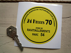 LE-MANS-24-Heures-1970-CAR-Park-Permit-Window-STICKER-Steve-McQueen-CIRCUIT-Hour