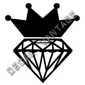 Diamond-Crown-Vinyl-Sticker-Decal-Flawless-Choose-Size-amp-Color