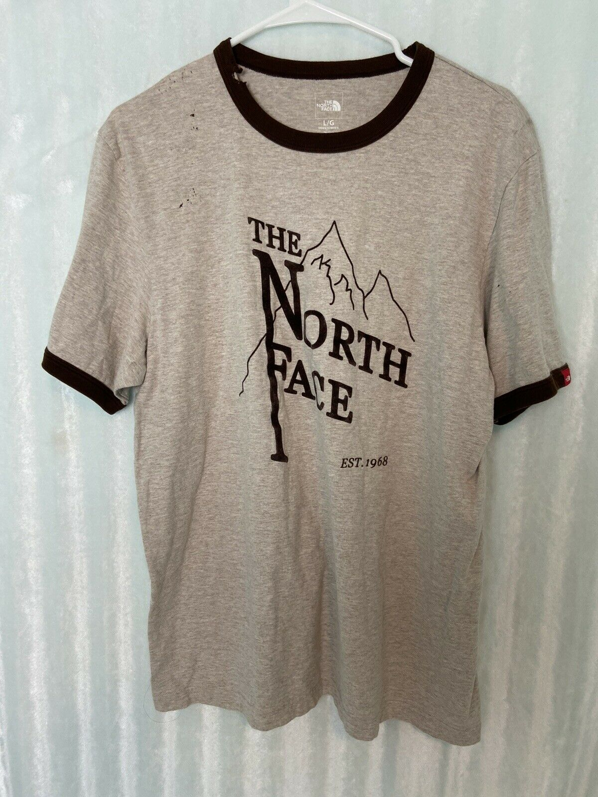 Vtg Distressed 90s Northface Washout Logo Spellout T Shirt Large