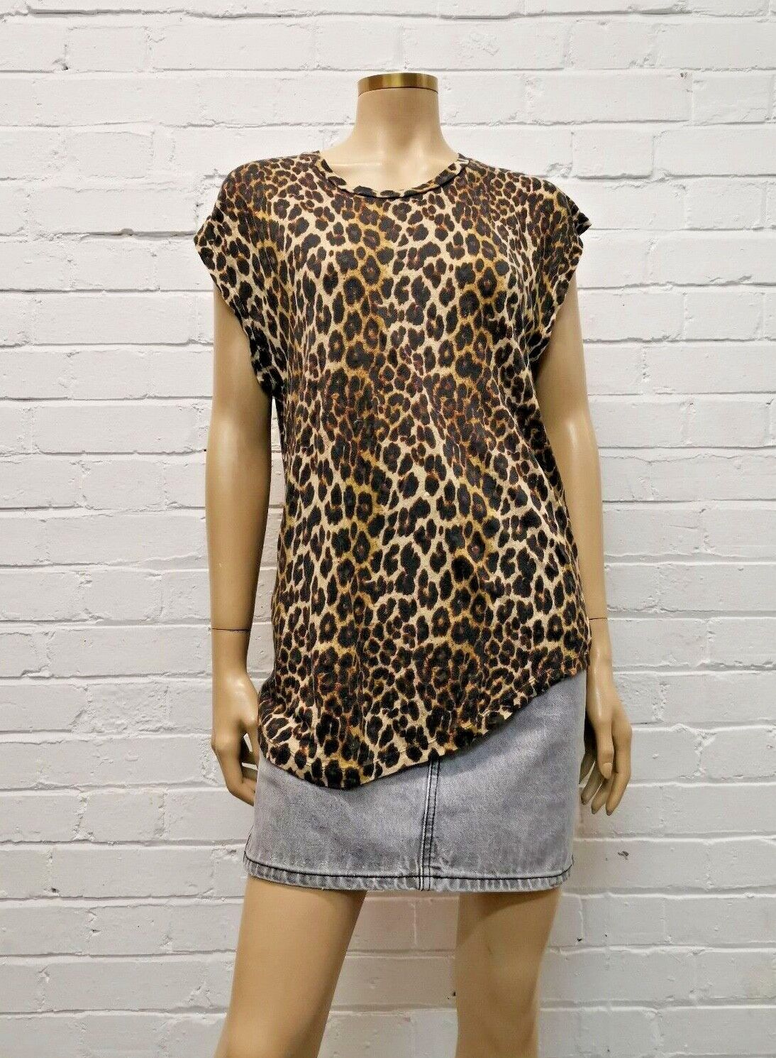 Iro Jeans Leopard Print Linen Top Größe L