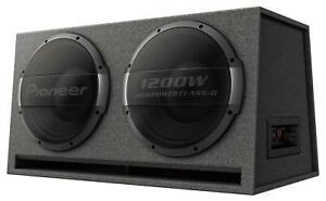 Pioneer TS-WX1220AH 2x 30 cm Aktiv Subwoofer 3000 Watt RMS: 1000 Watt