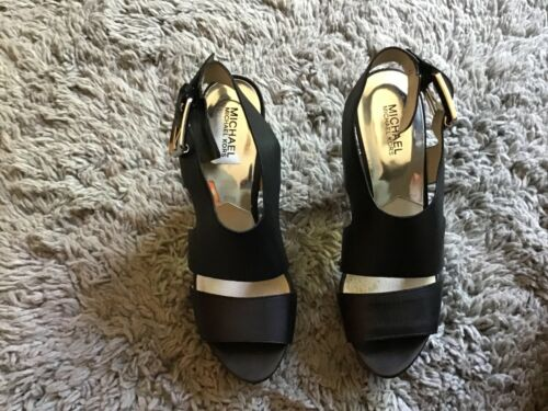 Michael Kors Womens Sandals Platform High Heels Bl