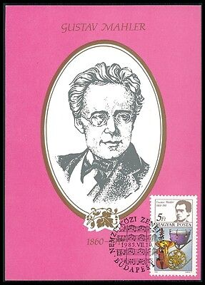 Topical Stamps Precise Ungarn Mk Musik Komponisten Mahler Pauke Horn Pardessus Maxi Card Mc Cm Bm35