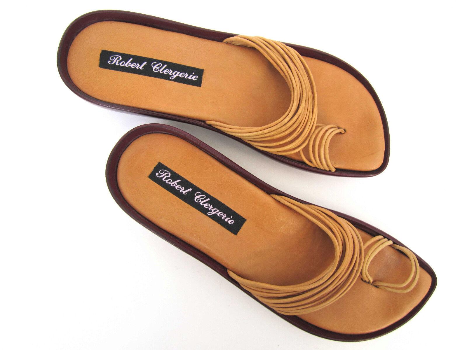 Robert Clergerie Damas Cordón de Cuero Sandalias De Anillo del dedo del pie-, moldeado plataforma 8, 8.5 N