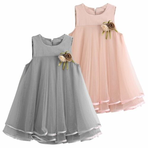 Toddler Kids Baby Princess Flower Girls Pageant Wedding Party Tulle Tutu Dresses
