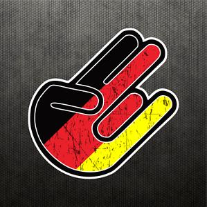 Shocker German Flag Sticker Vinyl Decal Germany Dope Car Sticker
