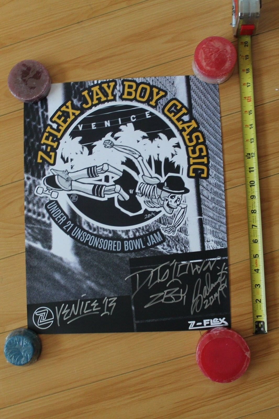 Jay Adams Autographed Z-Flex Jay Boy Classic 2014 Dogtown Poster 12x18in. Poster