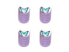 Butterfly - Tire Rim Valve Stem Caps - Purple