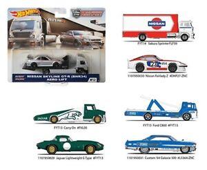 2019-Hot-Wheels-Car-Culture-Team-Transport-Case-F-Set-of-4-1-64-Cars-FLF56-956F