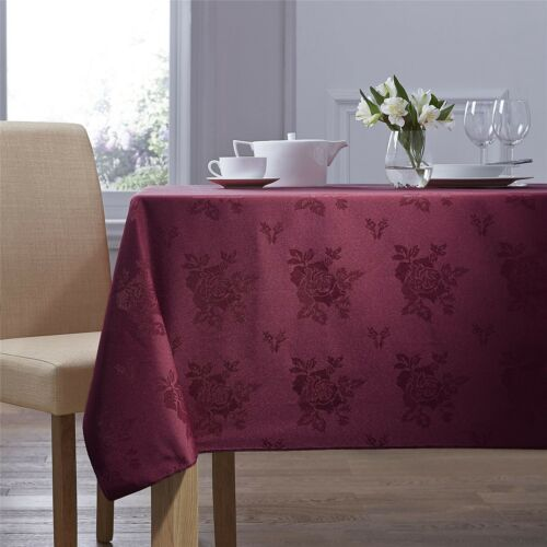 Tissé Damas Rose Bordeaux Nappe de Table Carrée 137cm X 137cm 137cm X 137cm