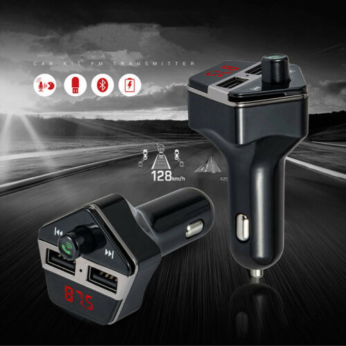 Wireless handfree USB Car Charger Kit FM Transmitter For Samsung Galaxy S8 S7