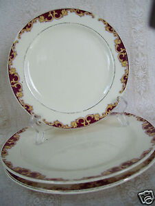 Image is loading Edwin-M-Knowles-China-Plate-Semi-Vitreous-Set- & Edwin M. Knowles China Plate Semi Vitreous Set Of 7 1/4\