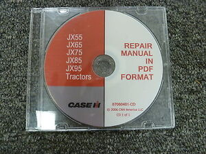 case ih jx55 jx65 jx75 jx85 jx95 utility tractor shop service repair rh ebay com case jx75 owners manual case jx75 owners manual