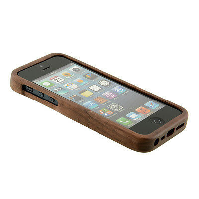 Natural Wood Walnut Wooden Hard Back Case Cover Protector for iPhone 5 5s