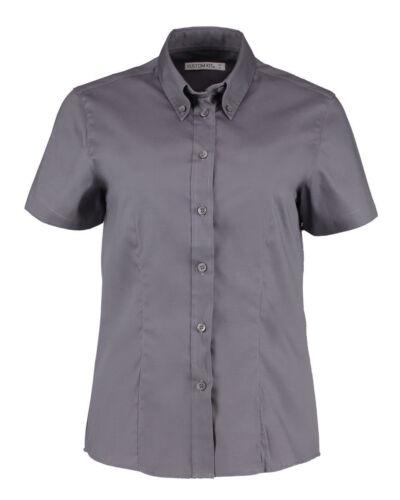 Kustom Kit Ladies/' Corporate Short Sleeve Oxford Shirt