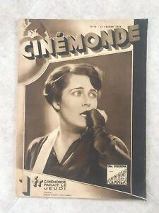*RARE* 1929 Cinemonde Olga Taschekowa Marion Davies Jean Chiappe Walter Ruttmann