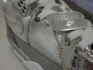 new style da8df 14a96 Nike Flight Squad QS, Flight 89, Metal Liquid, Metallic Silver, Ice, Size 8
