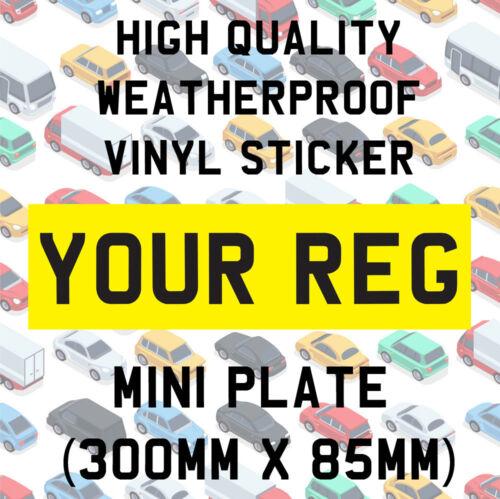 Rear Mini Number Plate Vinyl Sticker Stick On Off Roading Track Race Car Z03