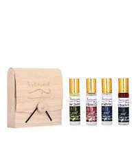 Ambrosial Gift Set 8ml X 4 Attar Rose Jasmine Black Musk White Oud Natural Pure