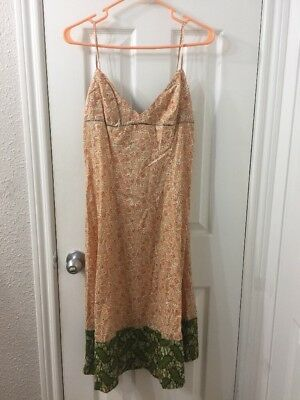 2bcb4bbba876 Dosa Cotton Floral Orange Slip Dress Sz 2 | eBay