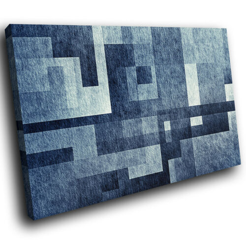 ZAB1730 Blue Grey Black Cool Modern Canvas Abstract Wall Art Picture Prints