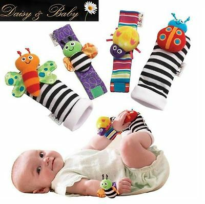 feet finders baby sensory toy wrist rattle stocking filler newborn lamaze  UK