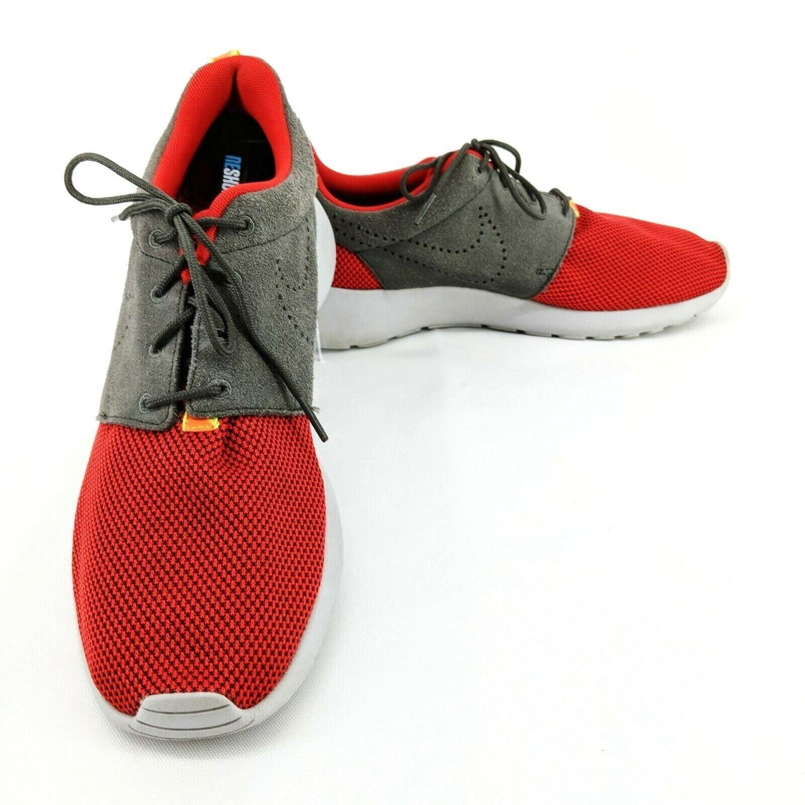 NIKE Mens Roshe Run shoes Challenge Red Dark Pewter Crimson Volt 511881-608 10.5