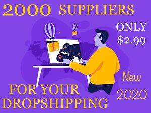 2000 Suppliers List + 💯 Bonus List✅ UPDATE 2020 ✅ Drop Shipping ✅ $2.99✅eBay✅