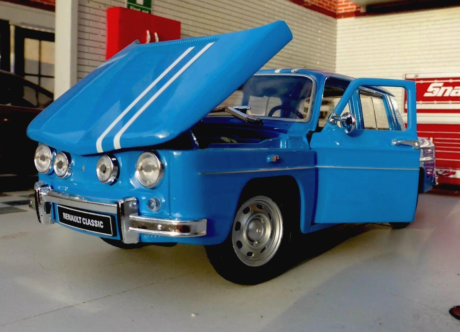 G LGB 1 24 Escala 1964 1964 1964 Renault R8 Gordini Detallado Welly Coche de Modelo Azul 4430d3
