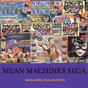 MEAN MACHINES SEGA Magazine Full Run DOWNLOAD Master System//PC Mega Drive Games