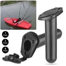 2//4PCS Flush Mount Fishing Boat Rod Holder Bracket With Cap Cover for Kayak Pole