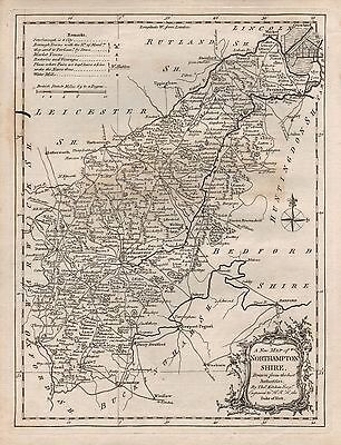 1770 Ca Antique Map Kitchin - Northamptonshire Lovely Luster