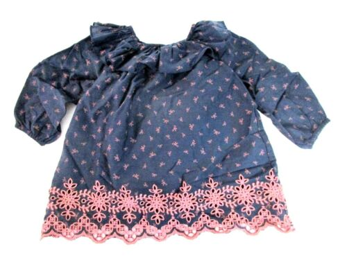 Gap Baby Girl REDS ROSE BOWS NAVY BLUE  Dress /& UNDERWEAR 6124