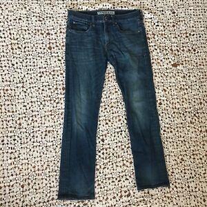 Express-Mens-Jeans-30-x-30-Blue-Denim-Slim-Fit-Rocco-Straight-Leg