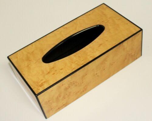 Tissue Box Natur mit Echtholz Funier VOGELAUGENAHORN