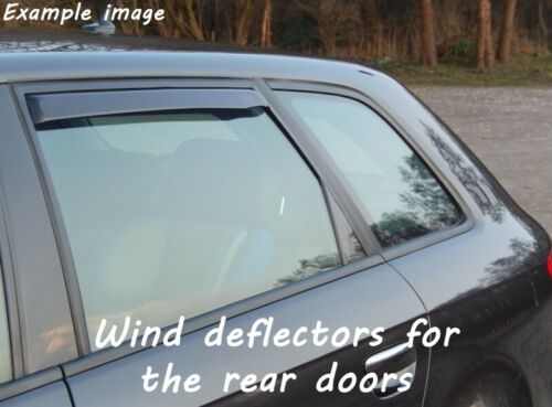 Wind deflectors for Chevrolet Lacetti 2004-2010 Sedan Saloon 4doors rear