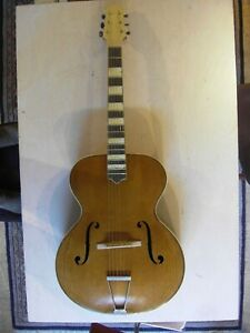 Antiques Amicable Gipsy Gitarre Guitar Akustikgitarre Eiche Jazzgitarre F-löcher Vollmassiv High Quality Goods