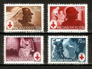 DR-Nazi-3d-Reich-Rare-WW2-1944-Stamp-Soldier-Hungary-Legion-Red-Cross-Occupation