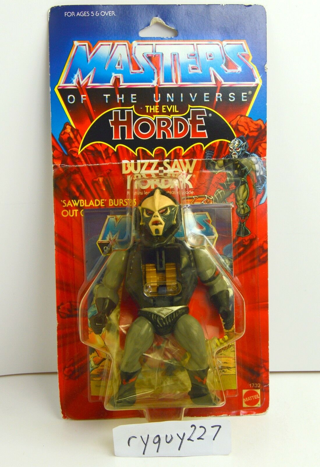 MOTU, Buzz-Saw Hordak, Masters of the Universe, MOC, carded, sealed, figure MOSC